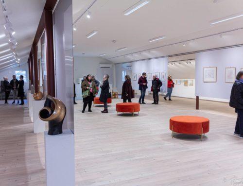 Bilder fra åpning av utstilling på Galleri 2×1 med Tore Haaland(1918-2006)